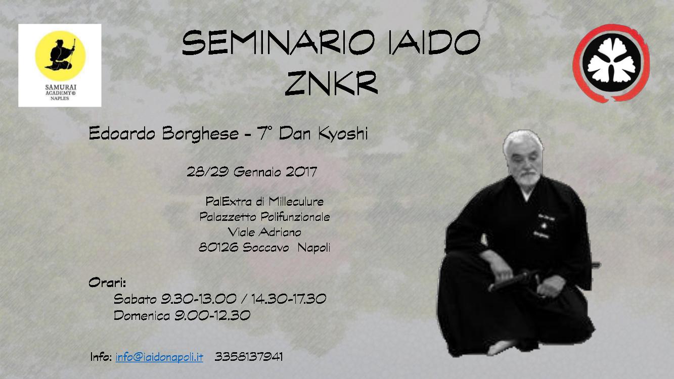 Seminario di Iaido a Napoli tenuto dal Maestro Edoardo Borghese - Gennaio 2017